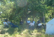 Class under the Trees, Little Bighorn River