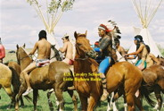 Little Bighorn Reenactment, Indian Braves, Crow Agency, MT